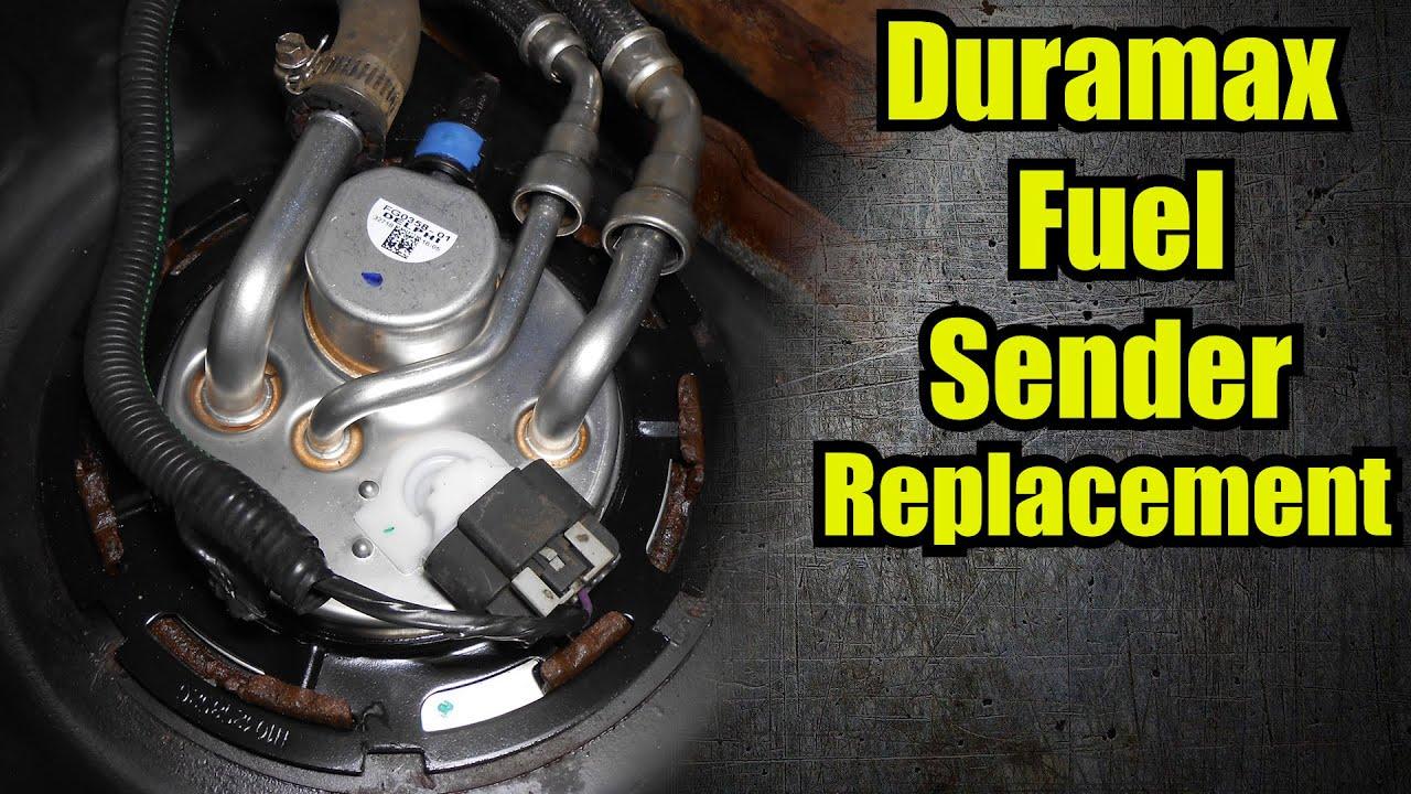 HOW TO Silverado Duramax Fuel Sending Unit Replacement - YouTube | Chevrolet Silverado Lmm Fuel Gauge Wiring |  | YouTube