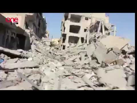Syria: City of Raqqa totally in ruins, city tour