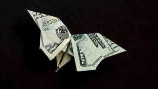 Dollar Origami Butterfly Tutorial - How to make a Dollar Butterfly