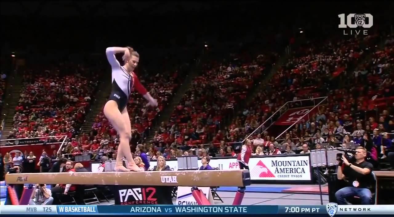 Baely Rowe (Utah) 2016 Beam vs BYU 9 8