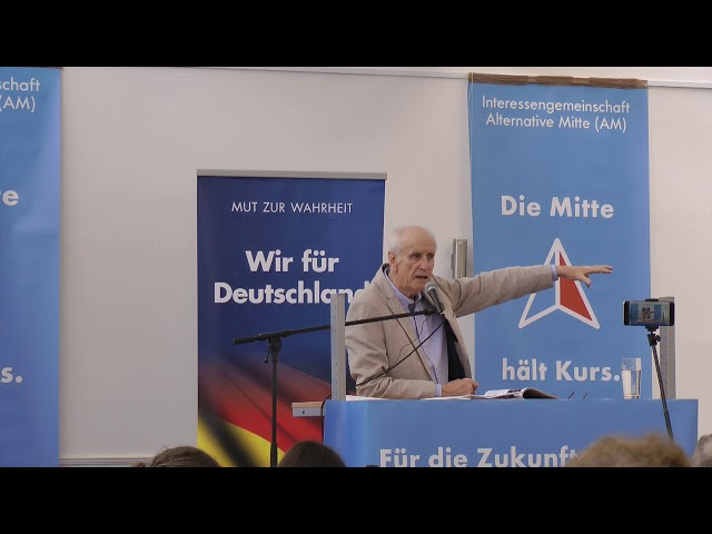 Albrecht Glaser bei der Alternativen Mitte am 22.04.2018