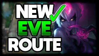 NEW Evelynn Jungle Route NO LEASH 1v9 Pathing Vs Hard Match-up | League of Legends