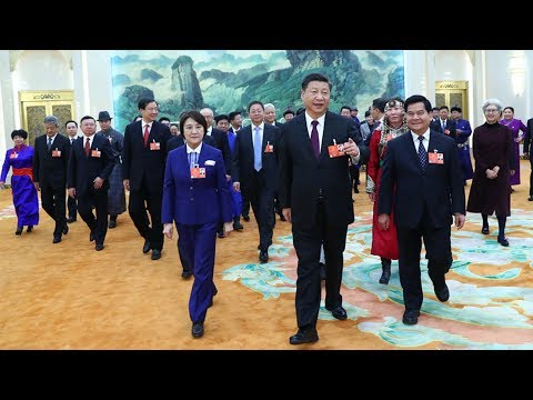 Xi Jinping attends Inner Mongolia Autonomous Region delegation's discussion and review meeting