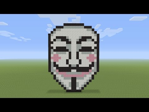 Minecraft Pixel Art - Anonymous Mask