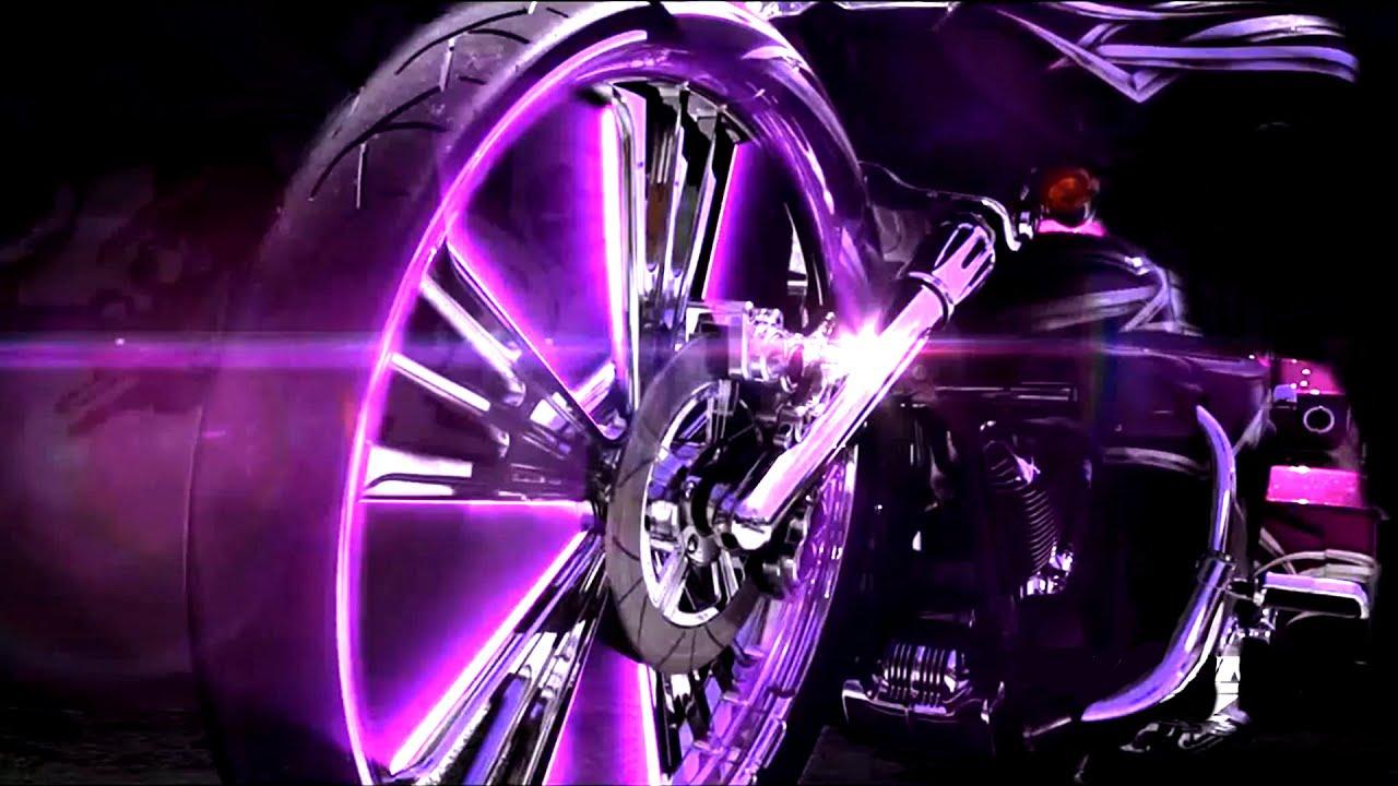 Street Bike Girl Wallpapers Roaring Toyz Purple Rain Harley Streetglide Custom Bagger