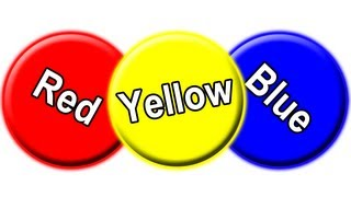 """Red Circle, Blue Circle Yellow Circle"" - Learn Colors for Babies, Toddler Colour Learning Song"