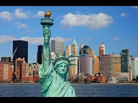 Обзор статуи  свободы. Нью-Йорк