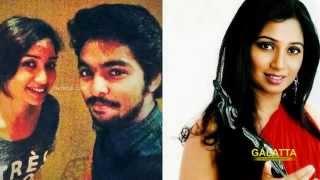 It's G V  Prakash and Shreya Ghoshal again