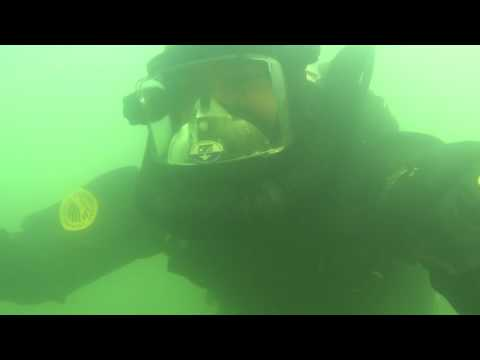 OTS Double Hose, FFM and Viking Rubber Dry Suit Underwater
