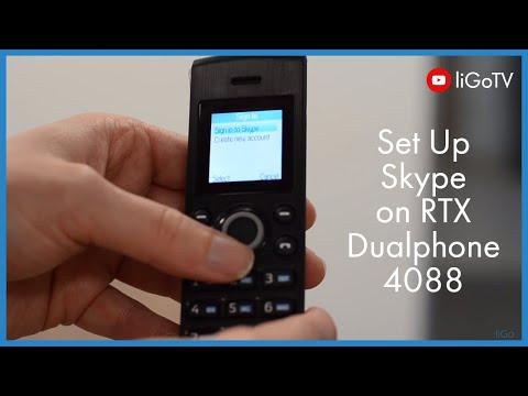 How To Setup Skype On The Rtx Dualphone