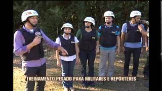 Repórteres da TV Alterosa participam de treinamento da PM para a Copa