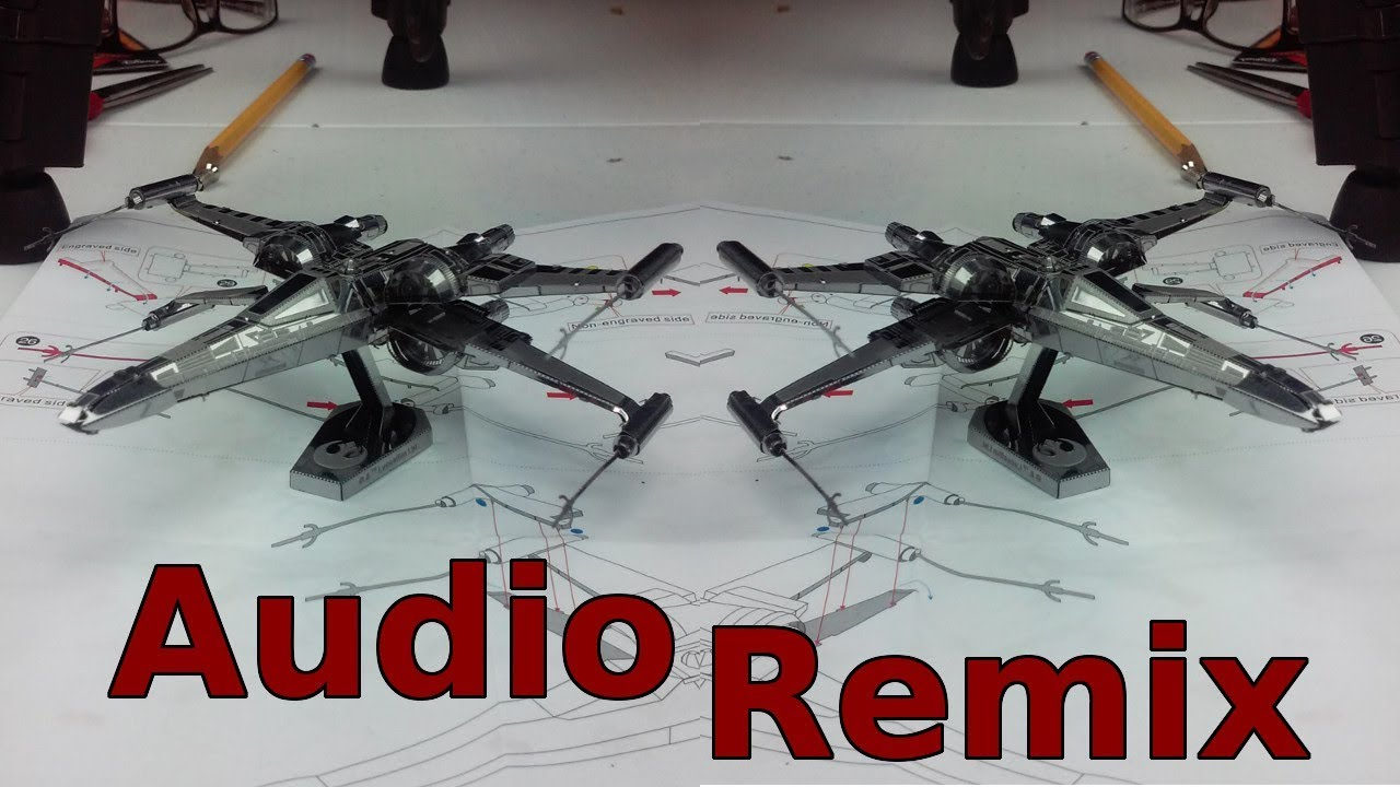 Metallic Earth Construct   Poe Damerons X Wing fighter   Star Wars   Audio Remix