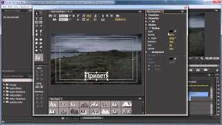 урок 7 Создание титров  Adobe Premiere Pro  текст анимация Премьер Про