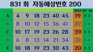 301회  나눔로또 예상번호200