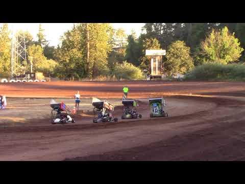 Cottage Grove Speedway, OR - 125cc Cage-Kart Heat #1 - August 25, 2017