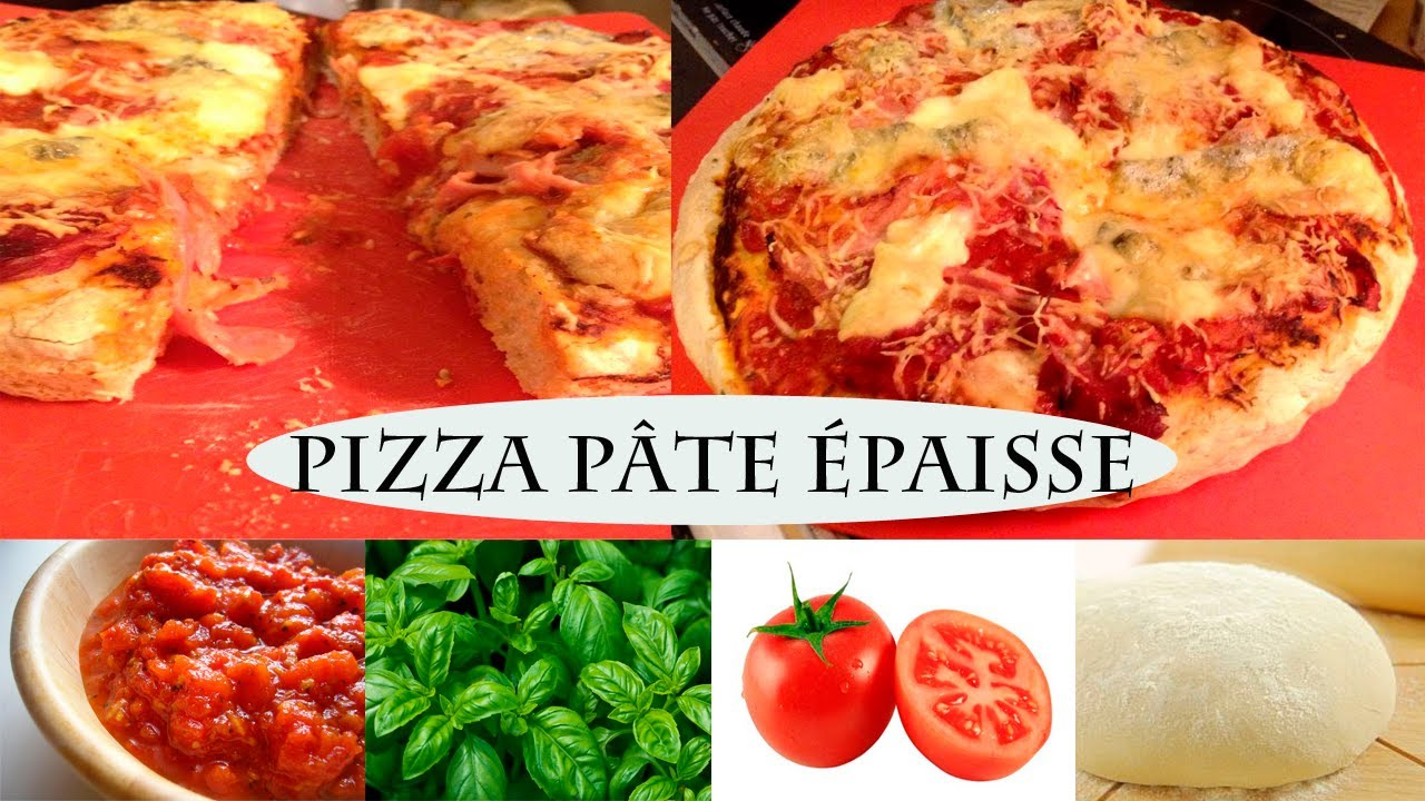 Recette Pizza Pate Epaisse Facile Youtube