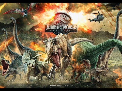 JURASSIC WORLD: FALLEN KINGDOM poster 2 (Speed Art) by Unai Lizarza