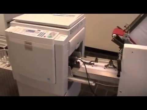 Standard (Ricoh) Duplicator Envelope Printing