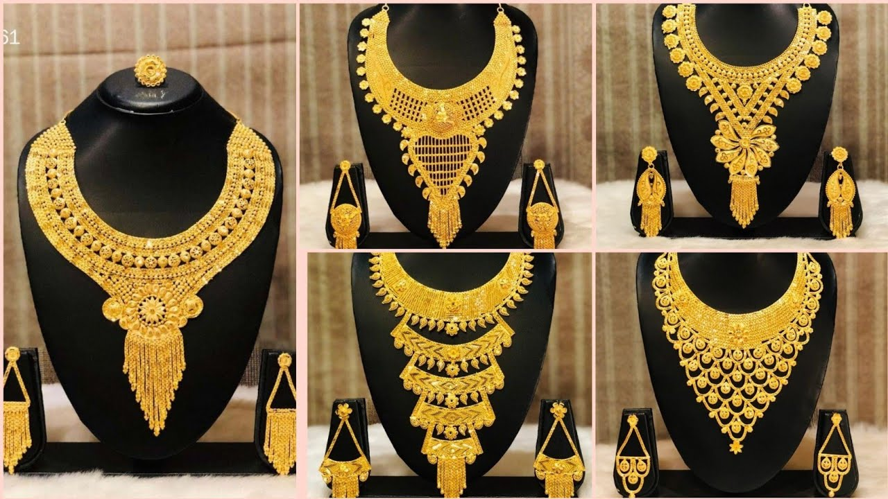 Heavy gold necklace set design ideas must watch #necklace