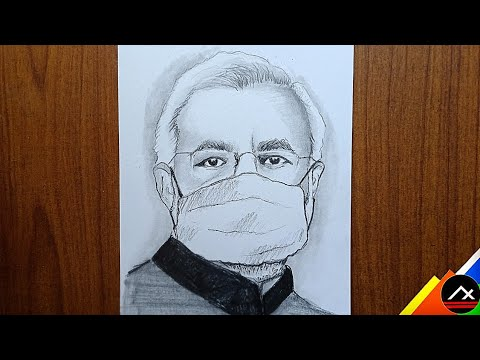 Narendra Modi With Mask Drawing || Indian prime minister ...