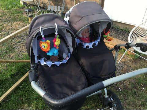 Reborn baby Outing! Sibling stroller - pram