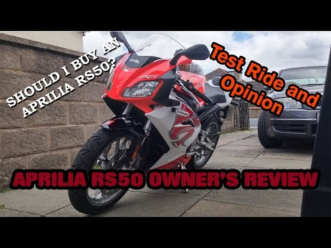 [ENGLISH] Aprilia RS50 50cc Sportbike Review, Test Ride and