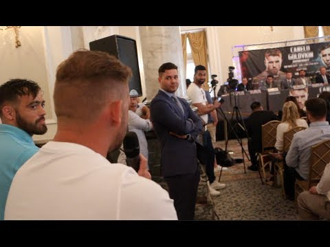 'YOU SH*T YOURSELF' - BILLY JOE SAUNDERS EPIC TROLLING OF CANELO & GOLOVKIN DURING MIDDLE OF PRESSER