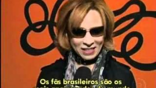 Banda japonesa X Japan conversa com equipe do Altas Horas durante t...