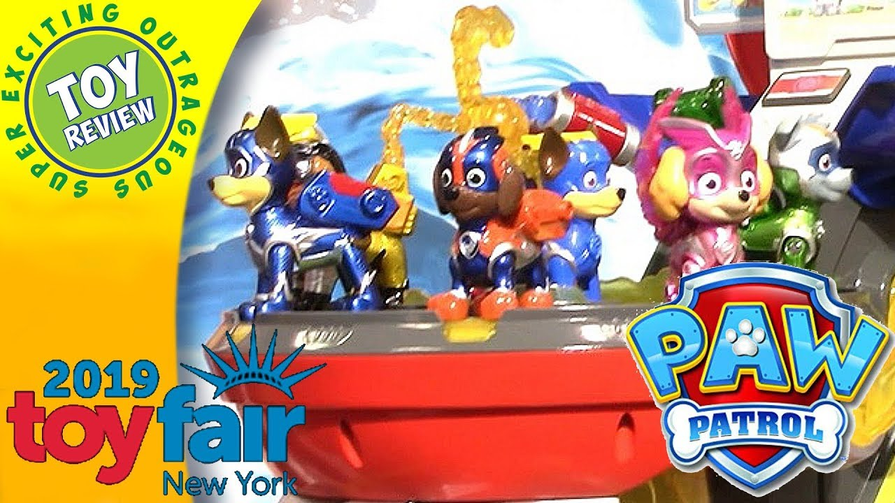 Paw Patrol Mighty Pups New York Toy Fair 2019 Youtube