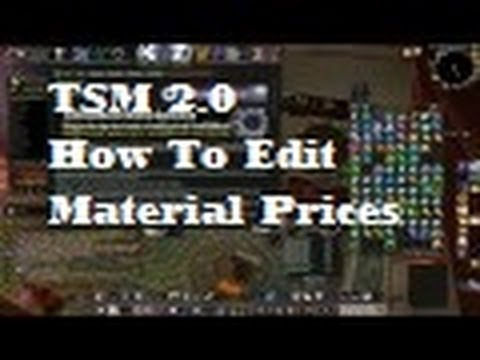 TSM 2 0 How to Change Crafting Material Prices Guide - Silenthunder's WoW  Gold Guides
