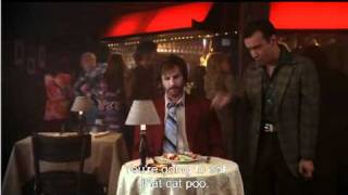 Anchorman -Cat poop.