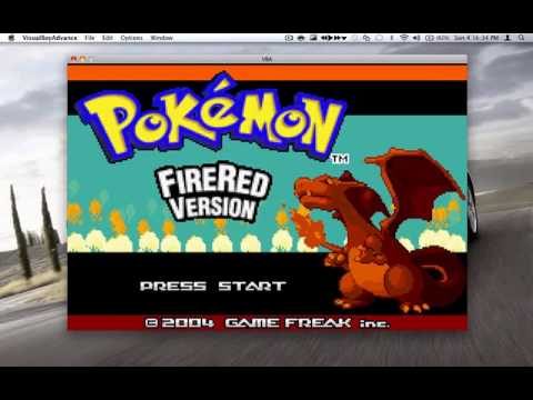 Pokémon Fire Red Version Gameplay (Game Boy Advance)