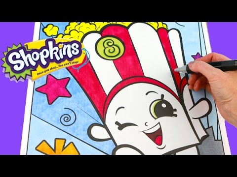 shopkins poppy corn speed coloring book page with markers