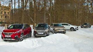 Вторая серия! Новый Tiguan, Sportage, Kuga, Forester и Peugeot 3008. Испытание холодом