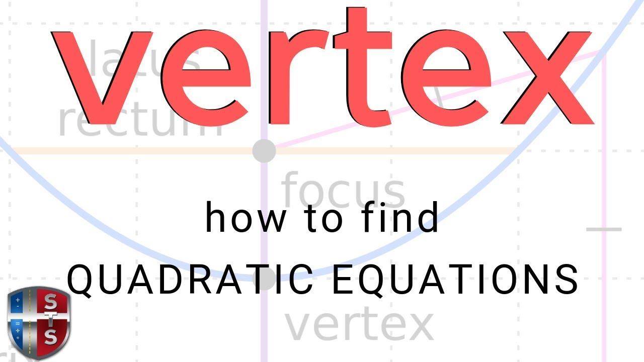 Calculus find the vertex of the quadratic equation youtube calculus find the vertex of the quadratic equation falaconquin