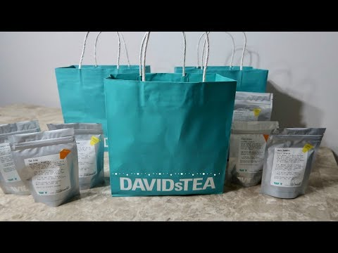 Davids Tea Haul   Healthy Iced Tea Gluten Free + Vegan