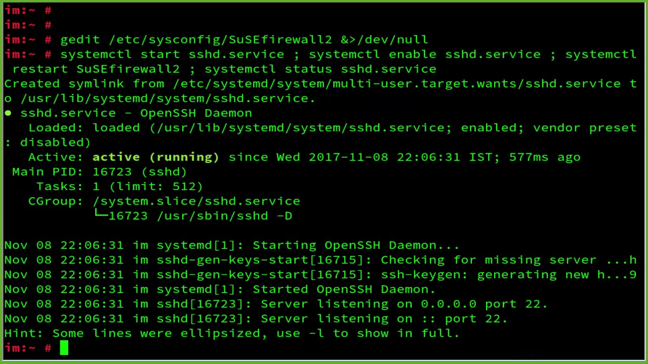 How To Configure SSH OpenSSH Server SSHD on openSUSE Leap 42 2