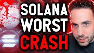 SOLANA WORST CRASH AS BLOCKCHAIN GOES OFFLINE FOR HOURS!