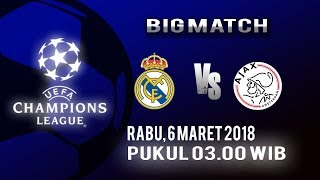 Jadwal Live Liga Champions Real Madrid Vs Ajax Amsterdam Dini Hari Nanti
