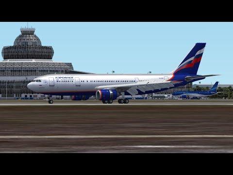Airbus A300 landing in Heydar Aliyev International Airport (UBBB), Rwy 34