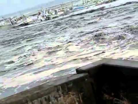 Tsunami at Oirase port, Aomori Prefecture