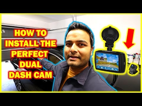 HOW TO Install A Front And Rear Dash Cam! (Complete Guide)