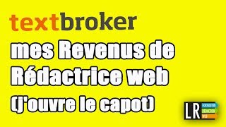 Textbroker :  mes Revenus de Rédactrice web (j