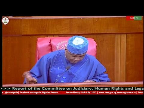 Nigerian Senate Plenary, 19th  July, 2017