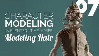 Character Modeling in Blender - 07 Modeling Hair