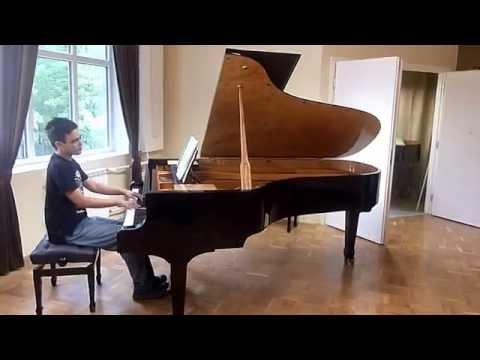 Ran Braschinsky (15) playes on Estonia Laul Grand Piano in Estonia Factory in Tallinn, Estonia.MTS