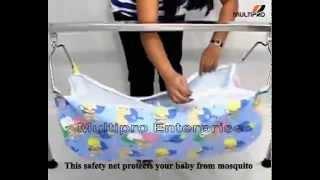 Multipro Born Baby Sleep Swing Cradle Ghodiyu Foldable And Portable