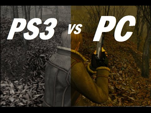 Resident Evil 4 PC vs PS3 Graphics and Sound Comparison - 1080p Max Settings vs 720p Console HD