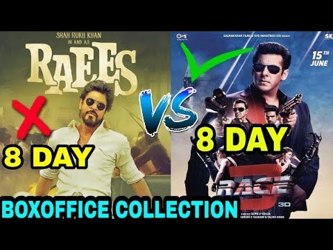 Race 3 Boxoffice Collection vs Raees box office collection, Salman Khan vs Shahrukh Khan, Race 3