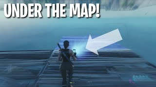 How to get under the map in Fortnite! (Creative Mode)